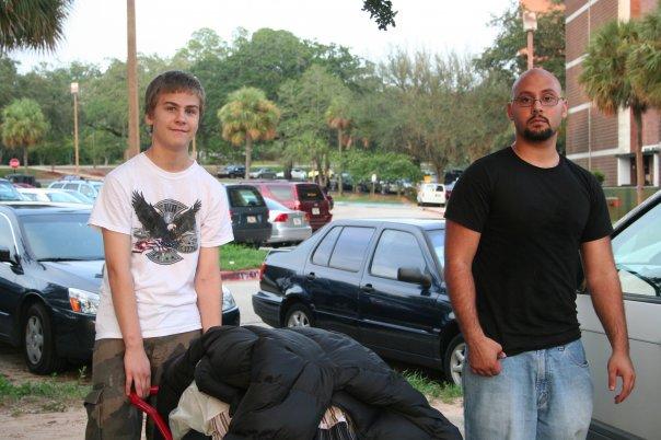 Joey helping Brian move into FSU dorm 2007