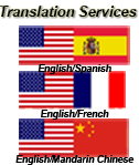 English/Spanish/Chinese/French Translation Services at Write Way Designs http://wwww.writewaydesigns.com/translation.php